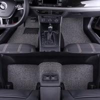 牧斯 加厚絲圈汽車腳墊 大眾朗逸PLUS(18-19款)專用 黑灰色