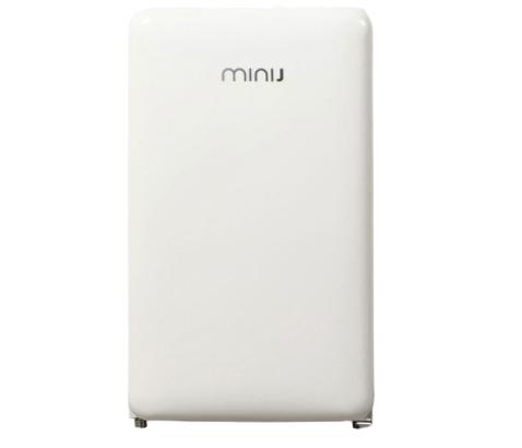 minij/小吉BC-121C 节能单门小型复古网红小冰箱家用租房宿舍静音