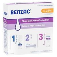 Benzac 祛痘去粉刺黑头三件套(祛痘凝胶50g+洁面120ml+保湿霜118ml)
