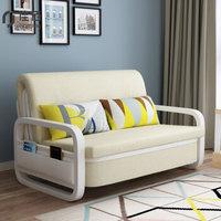 佳佰 沙发床简约现代客厅大小户型多功能沙发 单人双人三人铁艺可折叠两用沙发床懒人沙发