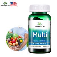 斯旺森Swanson 男士复合维生素90片 含维生素C 男性营养健康补充多维锯棕榈微量元素矿物质