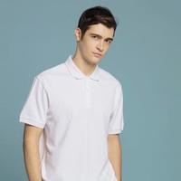 京东京造 纯白96棉短袖POLO衫男士T恤半袖商务简约 透气舒适 白色 L *2件