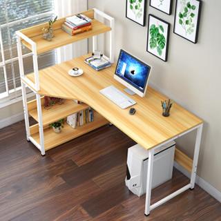 朗程 简约台式书桌 带书架