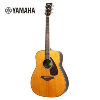 雅马哈(YAMAHA)全新升级款FG830VN 北美型号单板民谣吉他 复古色面单木吉他41英寸 原木色玫瑰木背侧板
