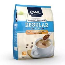 马来西亚进口 猫头鹰(OWL) 冷冻干燥工艺  三合一冷凝速溶咖啡粉(原味) 600g *5件