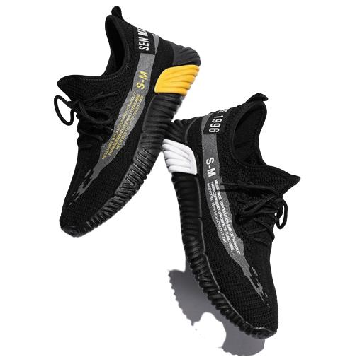 Semir 森马 套脚圆头厚底男士休闲鞋网面鞋 SL219120302 黑色 40