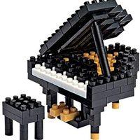Nanoblock 音乐实例积木套装 Grand Piano - 黑色