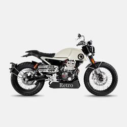 aprilia 阿普利亚 宗申 CR150 摩托车复古街车 1.0版 19款 米白色