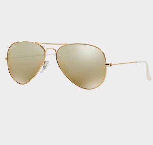 Ray·Ban 雷朋 飞行员系列 RB3025 001/3K 中性墨镜 金色镜框茶色镜片银色反光 55
