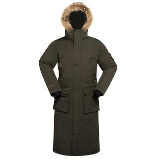 JUNYU 君羽 户外羽绒服男女长款过膝冬季派克大衣加厚鹅绒服800蓬工装风  D52075 橄榄—男女款 XL