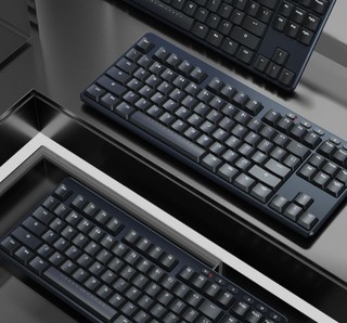 iKBC S200 无线机械键盘 87键 红轴 黑色