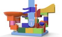 品格 滑道积木 大颗粒积木玩具 55颗粒 *3件
