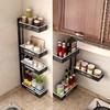 厨房转角旋转调料置物架免打孔壁挂式多功能调味料收纳架子省空间