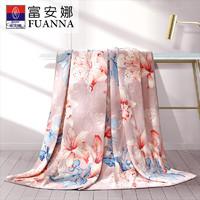 富安娜家纺毛毯被子法莱绒小毯子法兰绒床单人办公室午睡盖毯