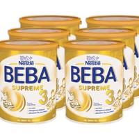 Nestlé BEBA 雀巢贝巴 SUPREME 婴儿奶粉3段 800g*6罐