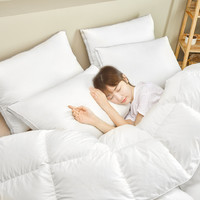 8H 三腔抗菌白鹅绒枕 致敬版 本白色 48*74cm 标准枕