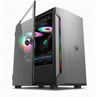 撒哈拉(SAHARA)逆行者301台式电脑MATX机箱(磁吸钢化玻璃/独立电源仓/支持240冷排) 逆行者301单机箱(黑)