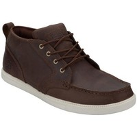 Timberland 添柏岚 Fulk LP Chukka 男士真皮休闲鞋 Dark Brown UK 7.5