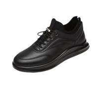 金利来(goldlion)休闲鞋男鞋舒适耐磨运动皮鞋52293022801A-黑色-41