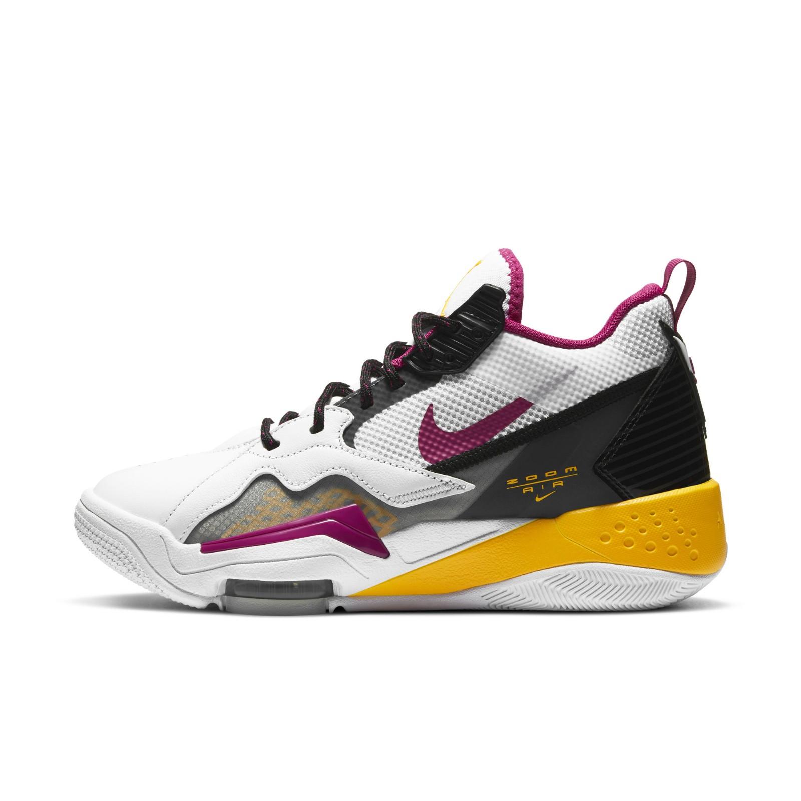 AIR JORDAN Zoom 92 女士篮球鞋 CK9184-105 白色/仙人掌花红/黑/烟灰/激光橙 38