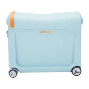 COOGHI酷骑儿童行李箱可坐可骑拉宝宝儿童旅行箱溜娃箱懒人拉杆箱 贝壳蓝