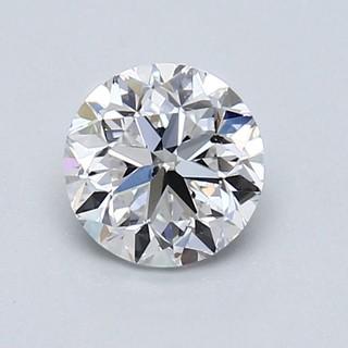 Blue Nile 1.01克拉圆形切割钻石(良好切工 D级成色 SI2净度)