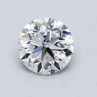 Blue Nile 1.01克拉圆形切割钻石(良好切工、D级成色、SI2净度)