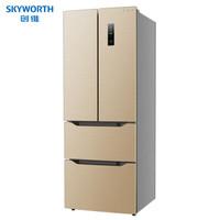 创维 (SKYWORTH) 331升 多门变频风冷无霜电脑温控冷藏冷冻除菌净味一级能效家用电冰箱 WM33BPS(京沧)