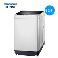 Panasonic/松下洗衣机全自动波轮8公斤家用静音节能 XQB80-T8G2F