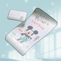 迪士尼婴儿凉席夏季儿童床冰丝乳胶凉席宝宝幼儿园午睡席子 米奇(带枕头枕套) 120*60cm