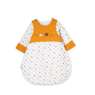 全棉时代 婴幼儿纱布夹纯棉侧开长袍睡袋 1件/袋