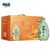 会稽山 绍兴黄酒 帝聚堂 六年陈 花雕酒 半干型 375ml*6瓶(绿) 整箱装