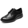 ECCO爱步商务正装鞋布洛克男鞋缓震时尚拷花男士皮鞋 拉夏600824 17AW600824 黑色 40