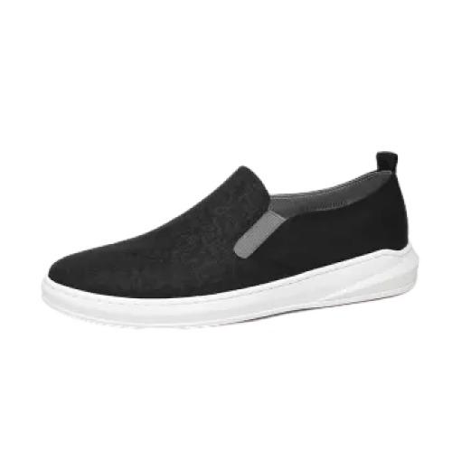 金利来(goldlion)男鞋时尚布鞋轻便耐磨套脚休闲鞋52201028101A-黑色-37