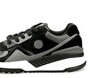 FREE TIE 生态链品牌90复古运动休闲鞋男款 黑灰色 39