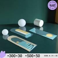 【青山美宿】原创设计北欧床边地毯卧室INS异形图案客厅厨房间垫
