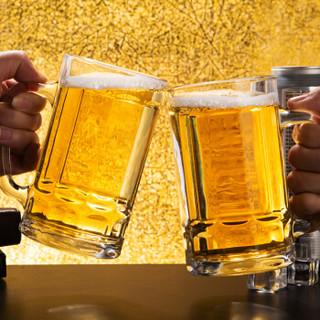 天喜(TIANXI)啤酒杯 玻璃杯把手啤酒杯扎啤杯玻璃水杯茶杯果汁杯 两只装