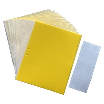 双面粘虫板 黄板诱虫板黄蓝色粘虫板防虫板蓝色苍蝇贴果园菜地小黑飞茶园大棚黏虫纸粘蜂贴 黄色25*20覆纸20张