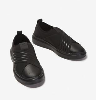 TEN MIRO 男女休闲潮流时尚一脚蹬小黑鞋 DWA731321 黑色 38