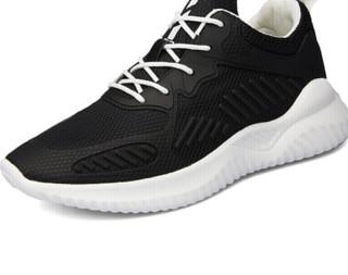 稻草人 MEXICAN 透气网跑步运动休闲男鞋子小白户外轻质百搭潮流 DCR2910 黑色 44
