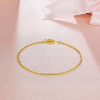 再降价:TSL 谢瑞麟  YQ752 女士黄金手链 1.8g