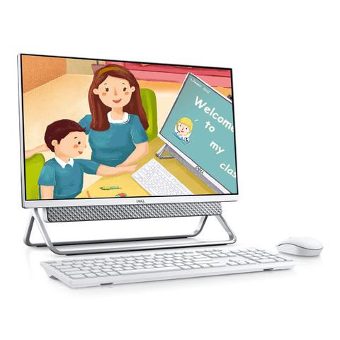 戴尔dell灵越5491英特尔酷睿i5 微边框台式机一体机电脑23.8英寸(十代i5-10210U 8G 512GSSD 2G独显)银
