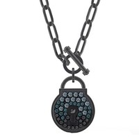 SWAROVSKI 施华洛世奇 TOGETHERNESS 兰心锁爱 爱意锁造型项链 5568034 黑色