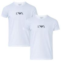 银联返现购:EMPORIO ARMANI 阿玛尼 男士休闲短袖T恤 2件装