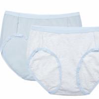 Purcotton 全棉时代 女士纯棉内裤收腹提臀新款两条装
