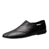 木林森(MULINSEN)男鞋时尚休闲鞋 舒适套脚驾车豆豆鞋韩版男士休闲皮鞋 黑色 42码 9813