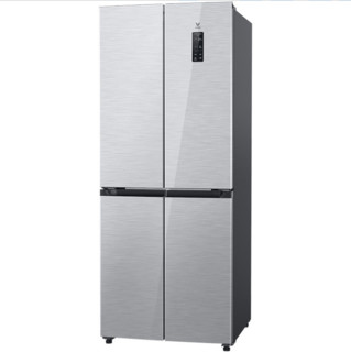 VIOMI 云米 BCD-410WMSAZ02A 变频十字对开门冰箱 410L 星密银