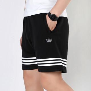 adidas Originals OUTLINE SHORT 男士运动短裤 FM3877 黑色 M