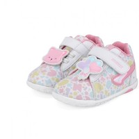 Dr.Kong 江博士 儿童透气魔术贴学步鞋 B13193W012 白/粉红 19
