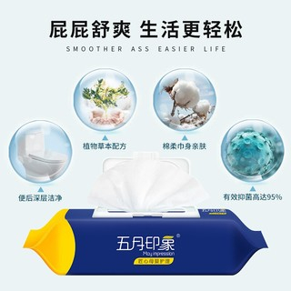 五月印象 清润卫生湿厕纸 80抽*5包